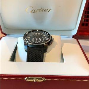 Cartier, Black Calibre Dicers watch.